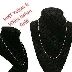 🌟NWOT🌟 10KT Gold Braided Herringbone Necklace